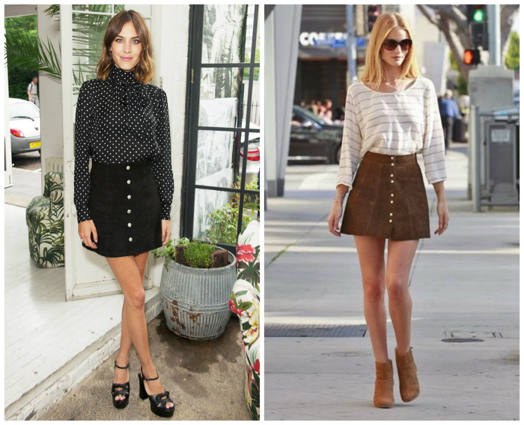 Alexa Chung i Rosie Huntington - Whiteley