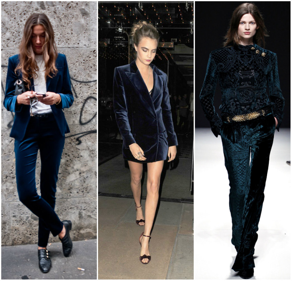 Aksamitne garnitury damskie - inspiracje