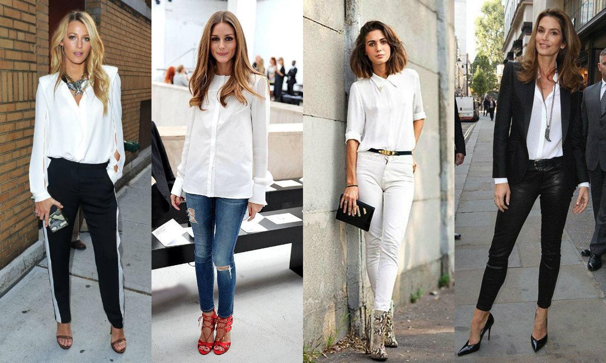 Biała koszula - stylizacje