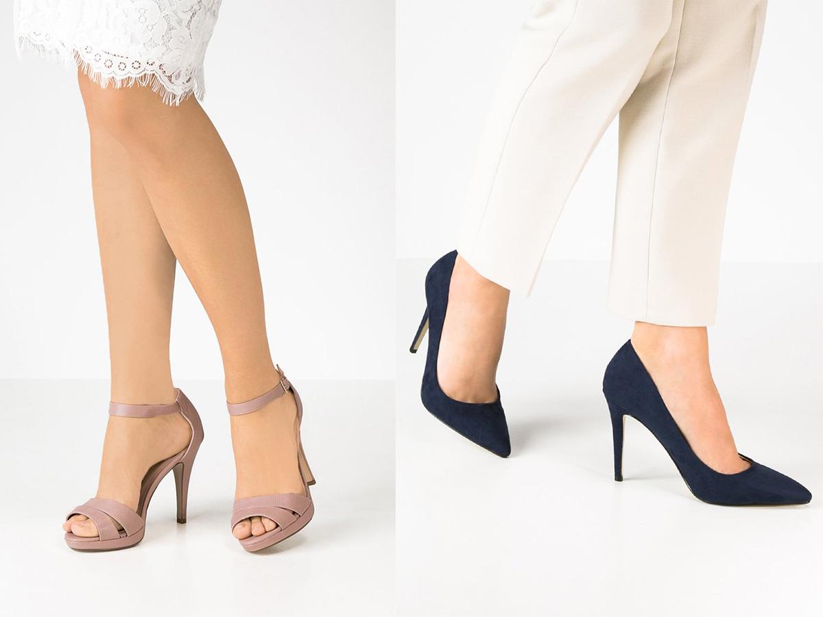 Modne buty na co dzień - sandały na obcasie New Look, czółenka Dorothy Perkins (fot. Zalando)