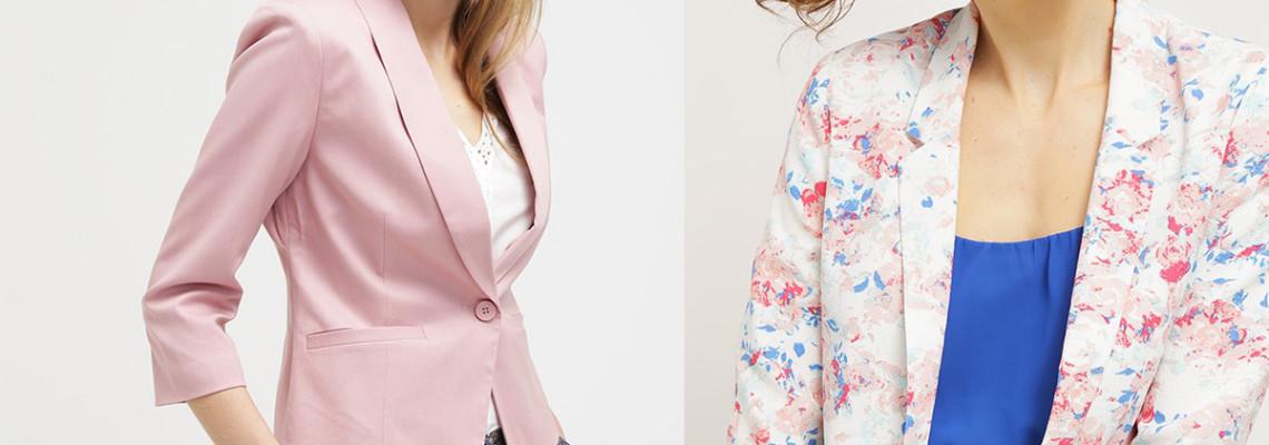 Żakiety damskie – modne fasony w gotowych zestawch