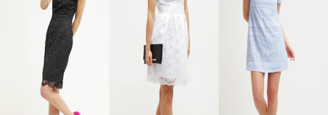 Sukienki koronkowe w 3 modnych stylizacjach