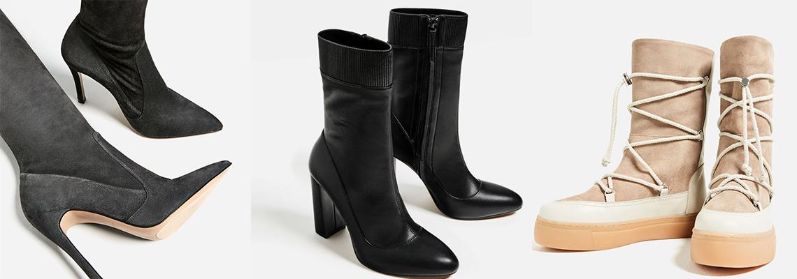 Buty zimowe - najpiękniejsze modele na zimę (fot. zara)