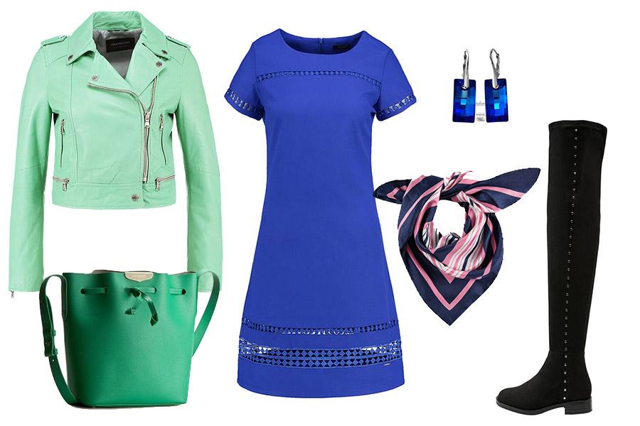 Niebieski i zielony (kolaż szafencja, materiał partnerów)