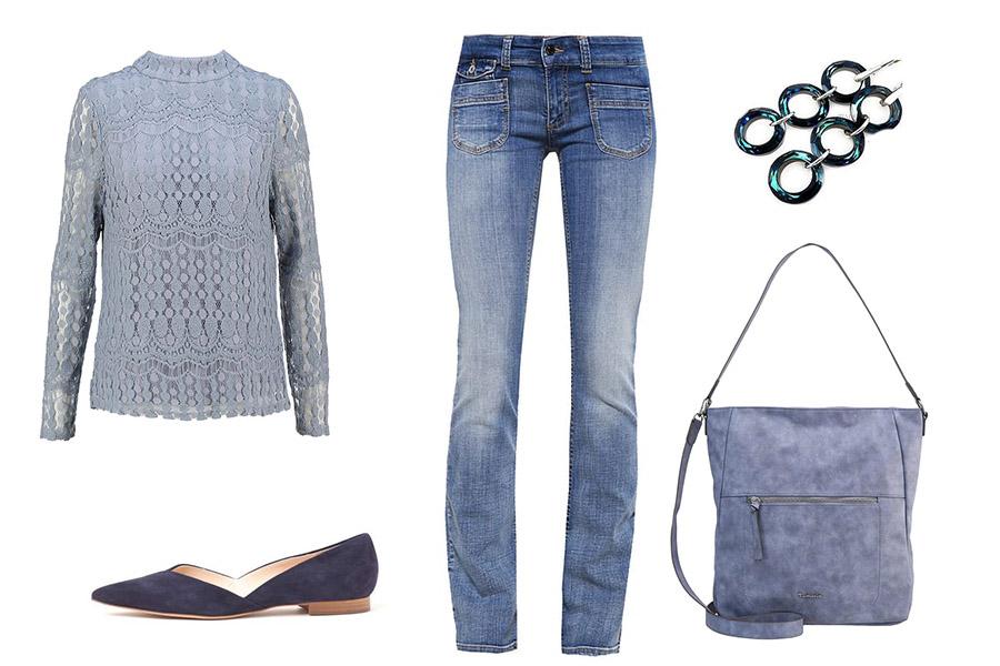 Niebieski total look (kolaż szafencja, materiały partnerów)Niebieski total look (kolaż szafencja, materiały partnerów)