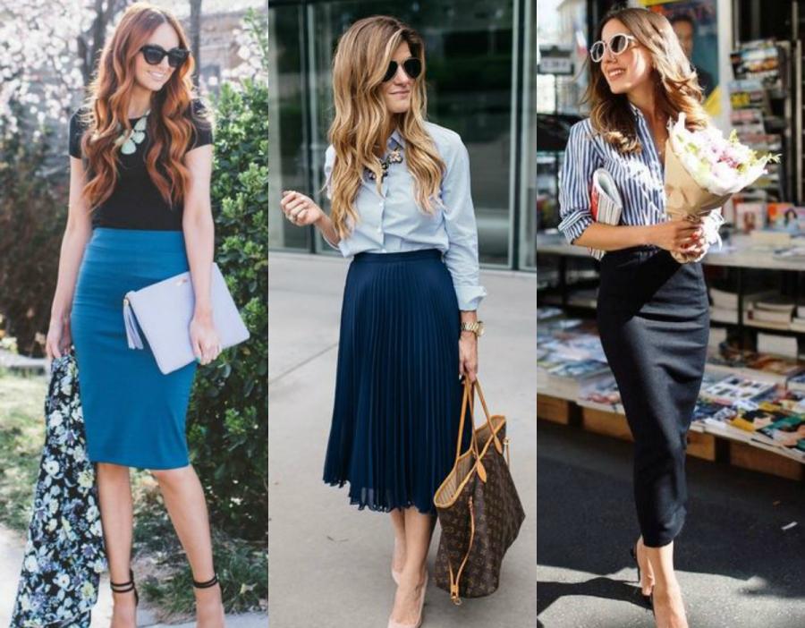 Jak się ubrać na rozmowę kwalifikacyjną - spódnica midi