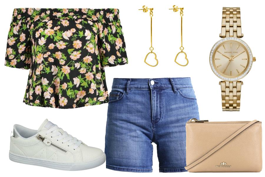 bluzki na lato carmen w kwiaty