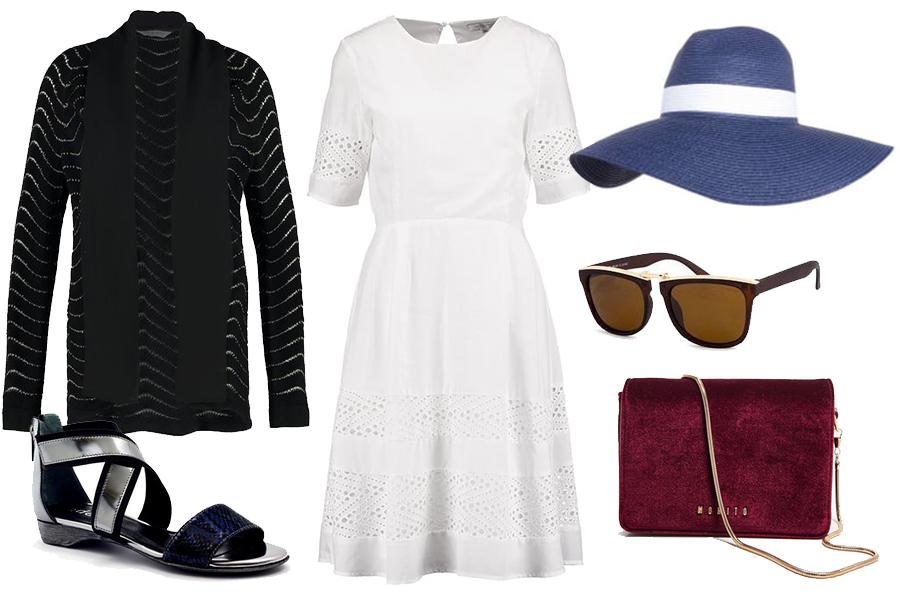Jakie dodatki do białej sukienki (kolaż redakcja, materiały partnerów)
