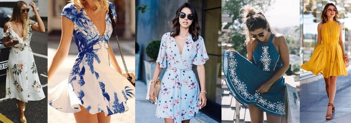 Rozkloszowane sukienki na lato – z czym je nosić?