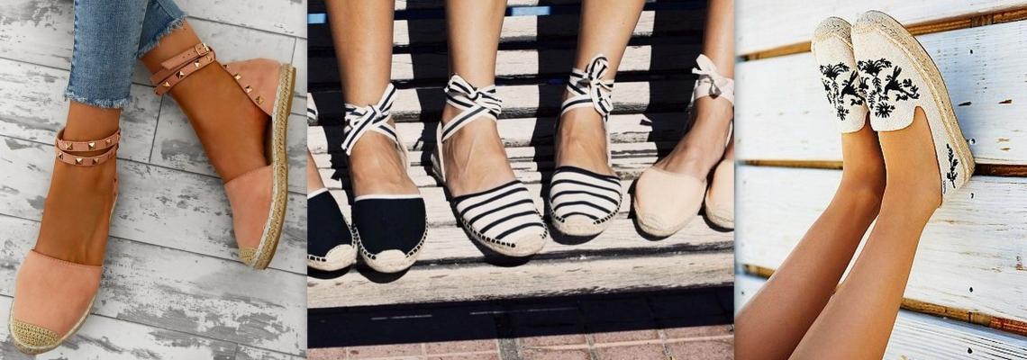 Espadryle damskie w trzech stylizacjach na lato