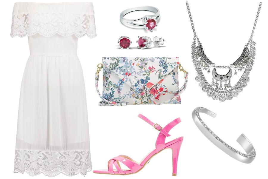 sukienka hiszpanka biała