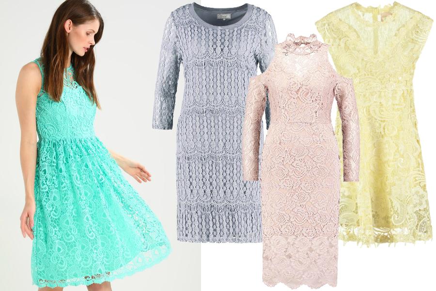 sukienki z letnich wyprzedaży koronka