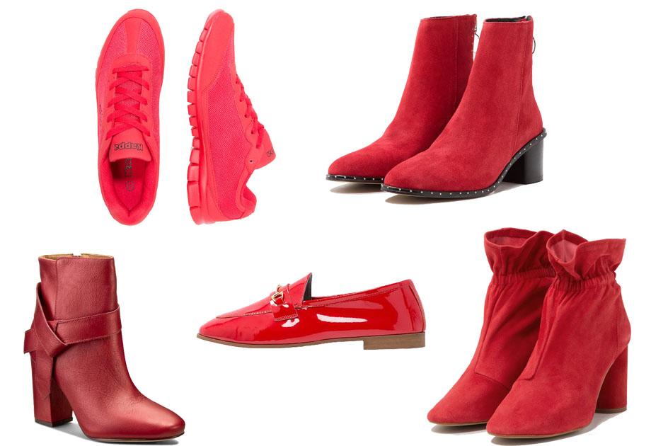Kolaż / Materiały partnera / czerwone buty