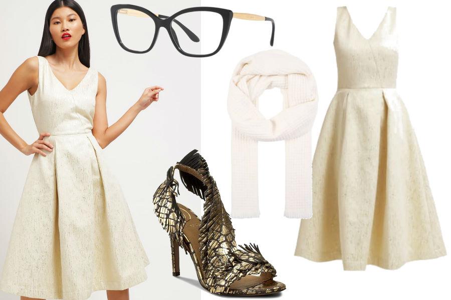 modna sukienka midi na wesele