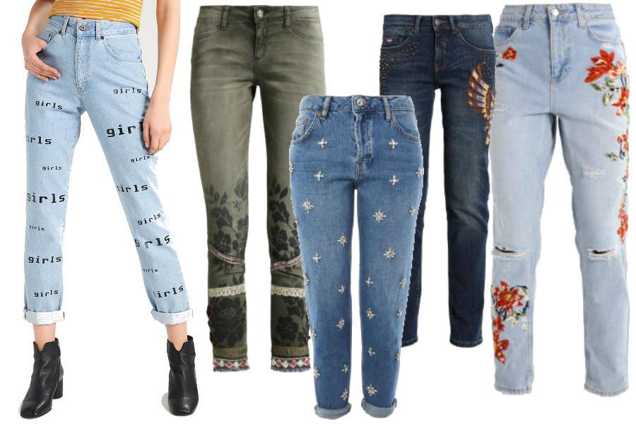 modne jeansy na jesień