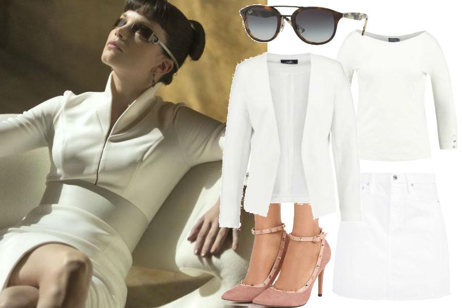 modne stylizacje w bieli