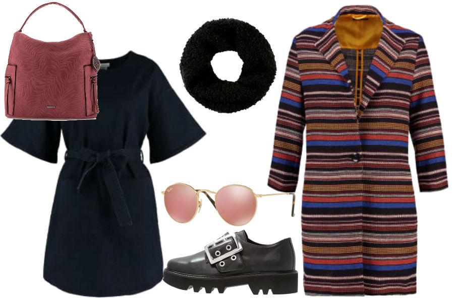 modne sukienki i buty na jesień