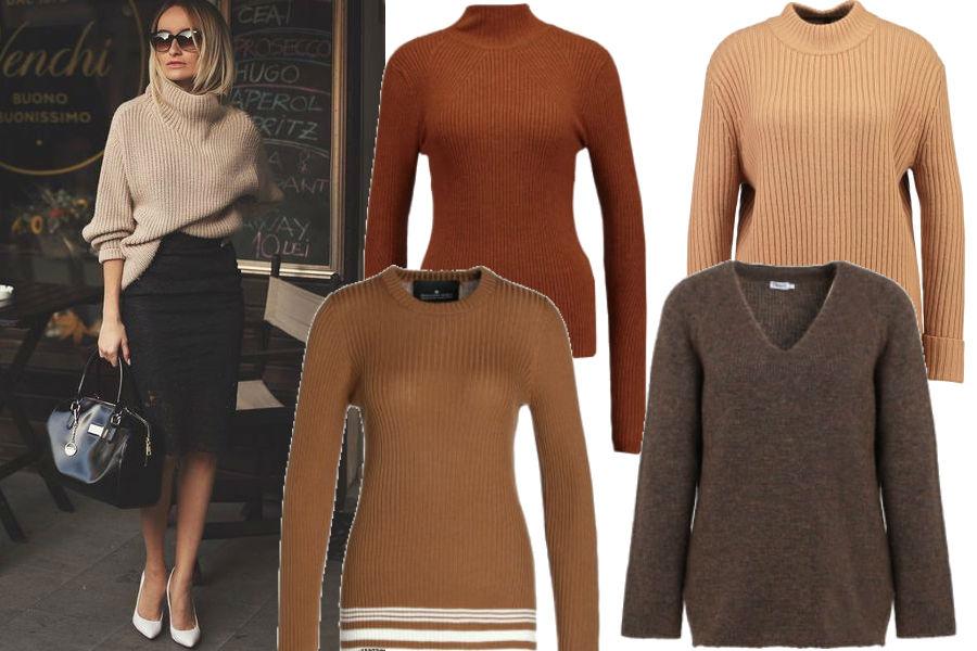 modne swetry do biura