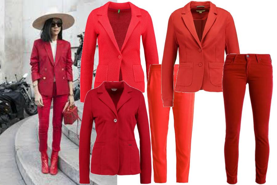 modna czerwień na święta