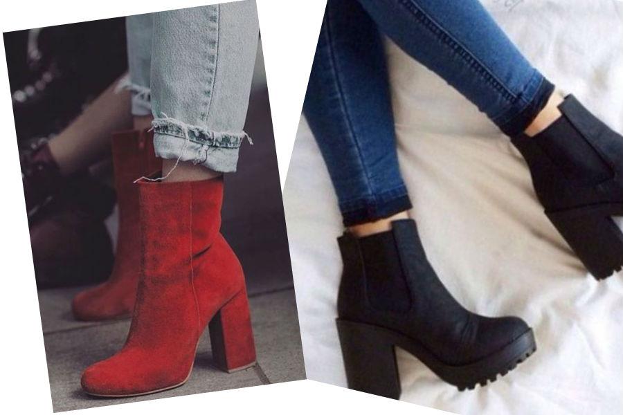 modne botki na obcasie i platformie