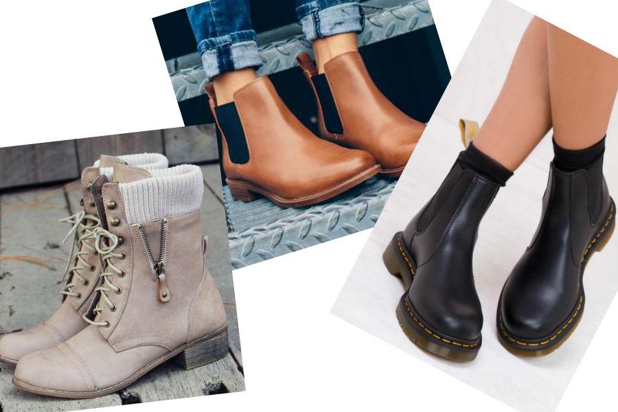 modne buty na płaskim obcasie