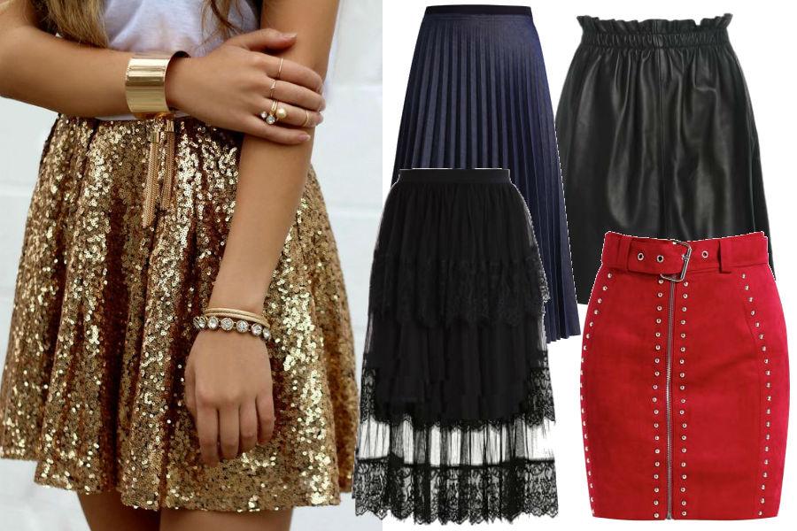 modne spódnice na sylwestra