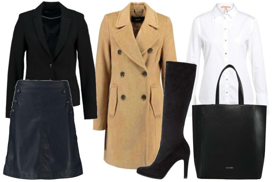 modne ubranie do pracy ze spódnicą