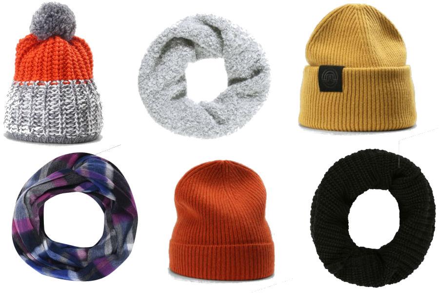modne szaliki i czapki