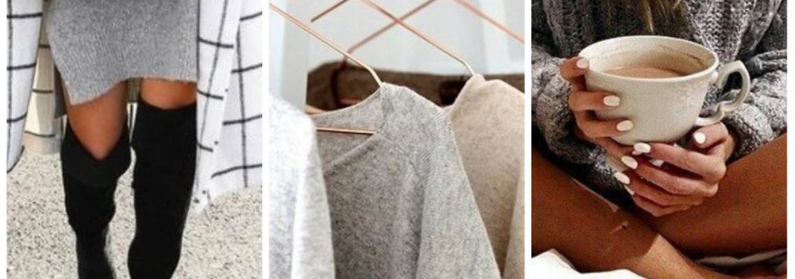 Szare ubrania – kilka ciekawych połączeń