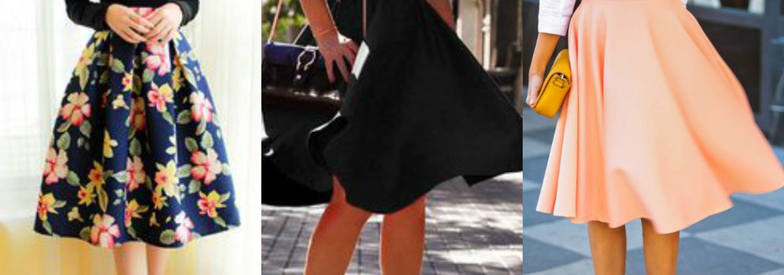 Spódnice rozkloszowane – ciekawe modele