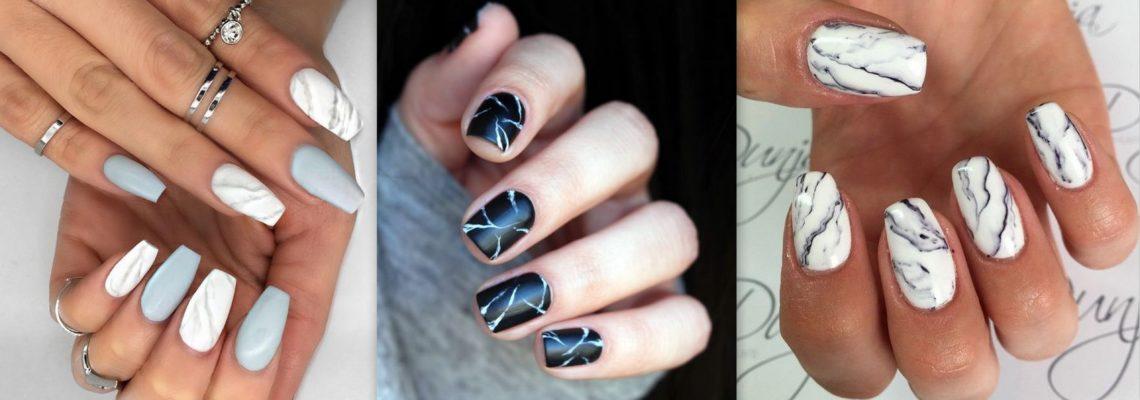 Modny manicure marmurkowy na zimę – zobacz, jak go wykonać!