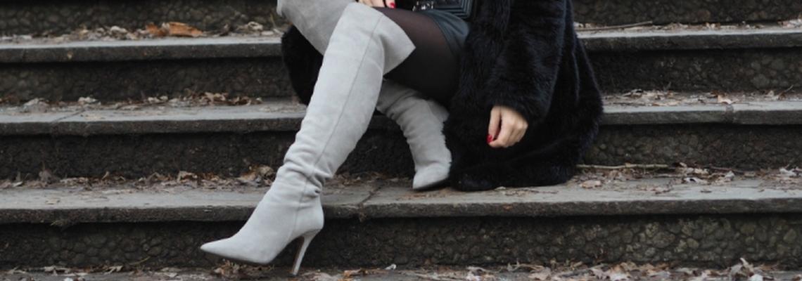 Kozaki za kolano w trzech modnych stylizacjach szafencja.pl