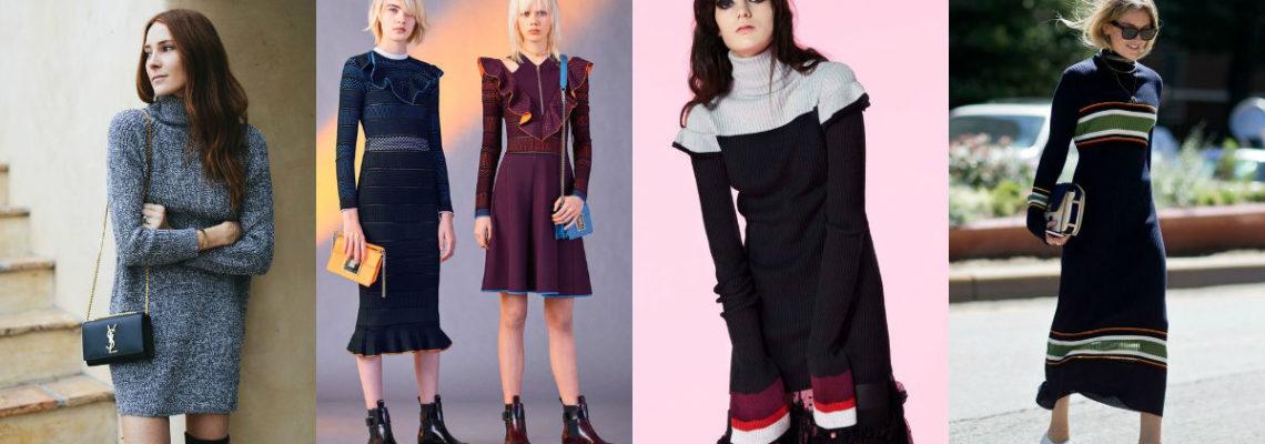 Sukienki z dzianiny – zimowy must-have fashionistki