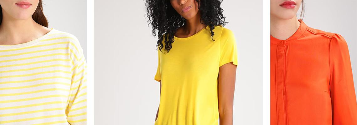 Modne kolory: żółty i pomarańczowy