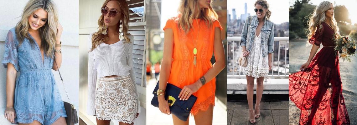 Koronkowe ubrania na lato – jak nosić?