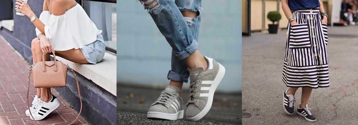 Buty Adidas w trzech stylizacjach na lato