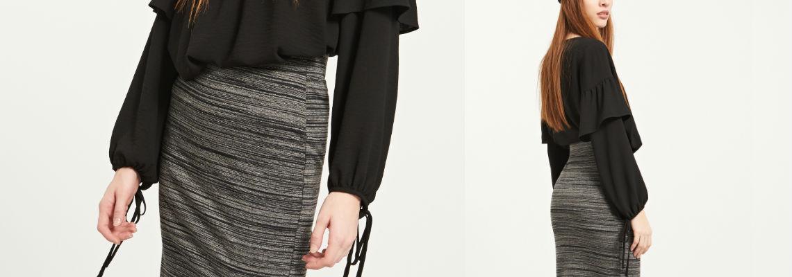 Jedna ołówkowa spódnica  na wieczór i do pracy – stylizacje
