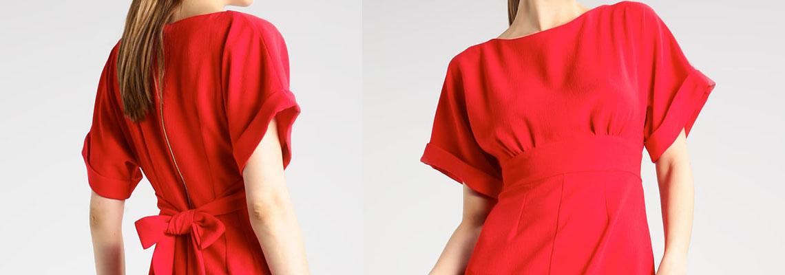 Czerwona sukienka w trzech stylizacjach